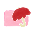 128x128px size png icon of Folder Candy Umbrella