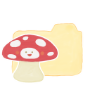 128x128px size png icon of Folder Vanilla Mushroom