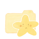 128x128px size png icon of Folder Vanilla Starry