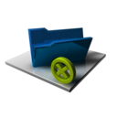 128x128px size png icon of Blue Folder Delete