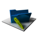 128x128px size png icon of Blue Folder Edit