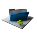 Blue Folder Full Add Icon