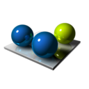 Blue Green Spheres Icon