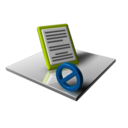128x128px size png icon of Dock Blocked