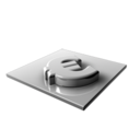 128x128px size png icon of Euro Silver