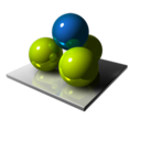 128x128px size png icon of Four Spheres