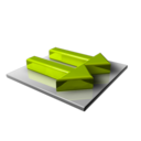 128x128px size png icon of Green Arrows Right