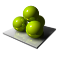 128x128px size png icon of Green Spheres
