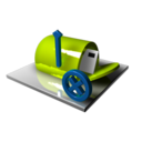 128x128px size png icon of Mailbox Delete