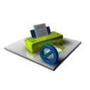 128x128px size png icon of Printer Blocked