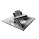 128x128px size png icon of Printer Edit Blocked