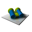 128x128px size png icon of Search Binoculars