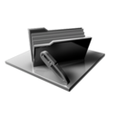128x128px size png icon of Silver Folder Edit Files