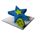 128x128px size png icon of Star Delete