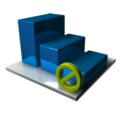 128x128px size png icon of Statistics Blocked