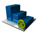 128x128px size png icon of Statistics Delete