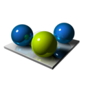 128x128px size png icon of Three Balls