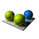 128x128px size png icon of Three Spheres