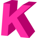 128x128px size png icon of Letter K