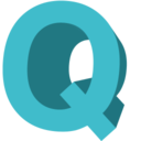128x128px size png icon of Letter Q