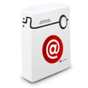 128x128px size png icon of Address Book alt