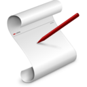 128x128px size png icon of Script Editor