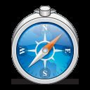 128x128px size png icon of app safari alt