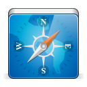 128x128px size png icon of app safari