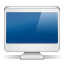 128x128px size png icon of imac white