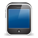 128x128px size png icon of iphone3gs black