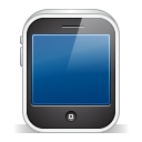 128x128px size png icon of iphone3gs white
