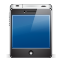 128x128px size png icon of iphone4 black