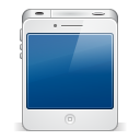 128x128px size png icon of iphone4 white