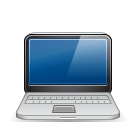 128x128px size png icon of macbook black