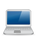 128x128px size png icon of macbook white