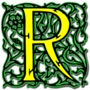 128x128px size png icon of Letter r
