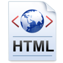 128x128px size png icon of Document Code HTML