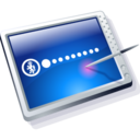 128x128px size png icon of tablet blue