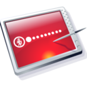 128x128px size png icon of tablet red