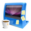 128x128px size png icon of blue computer