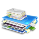 128x128px size png icon of blue folder