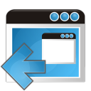 128x128px size png icon of application arrow left