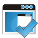 128x128px size png icon of application check