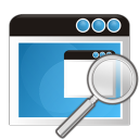 128x128px size png icon of application search