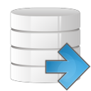 128x128px size png icon of database arrow right