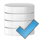 128x128px size png icon of database check