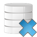 128x128px size png icon of database delete