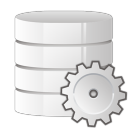 128x128px size png icon of database settings