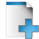 128x128px size png icon of document add
