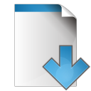 128x128px size png icon of document arrow down